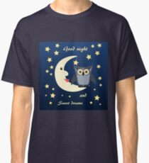 owl on the moon Classic T-Shirt