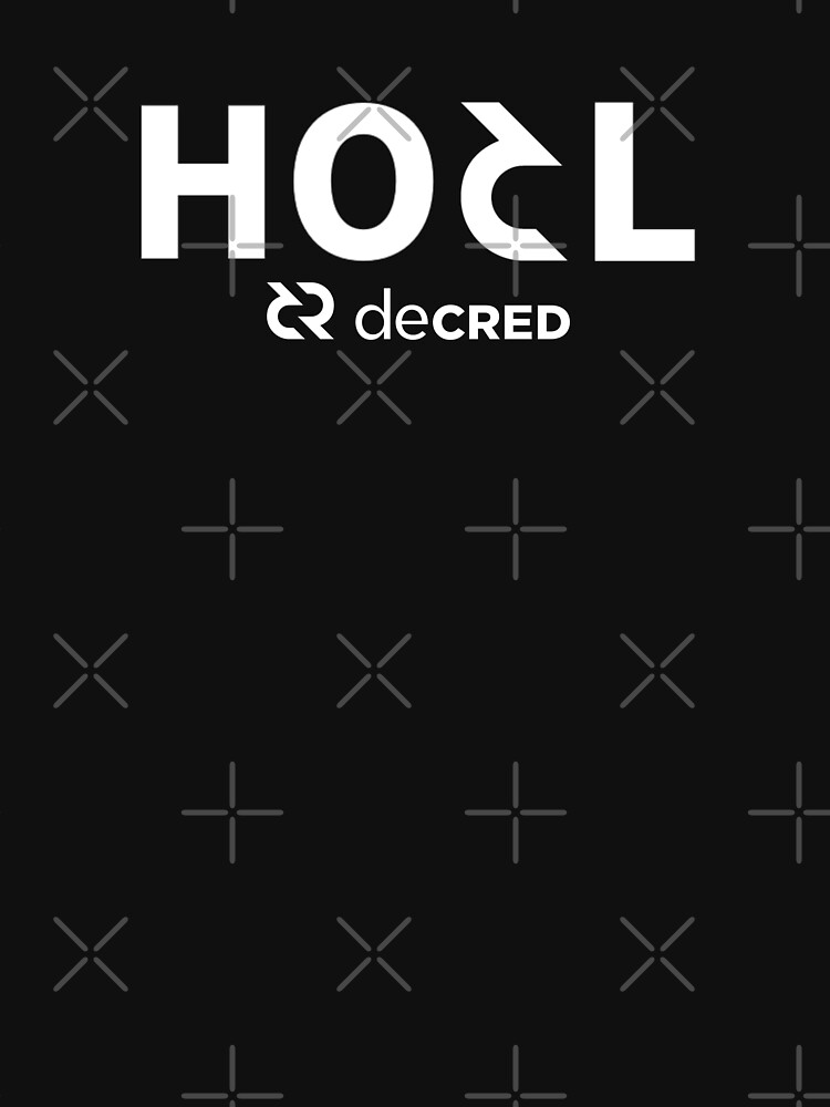 HODL Decred ™ v1 'Design timestamped by https://timestamp.decred.org/' by OfficialCryptos
