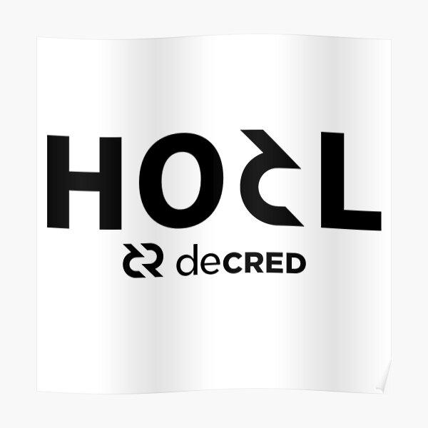 HODL Decred v2 Poster