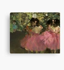 Edgar Degas - Dancers In Pink Canvas Print