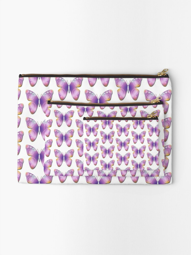 Alternate view of Butterfly Fantasy Zipper Pouch