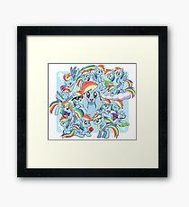 Every Rainbow Dash EVER Framed Print