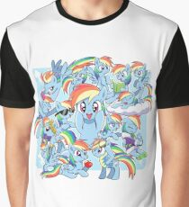 Every Rainbow Dash EVER Graphic T-Shirt