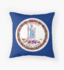 Virginia state flag Throw Pillow