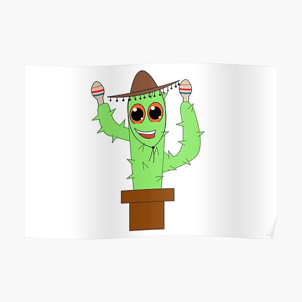 Mique the Mariachi in a Pot Poster