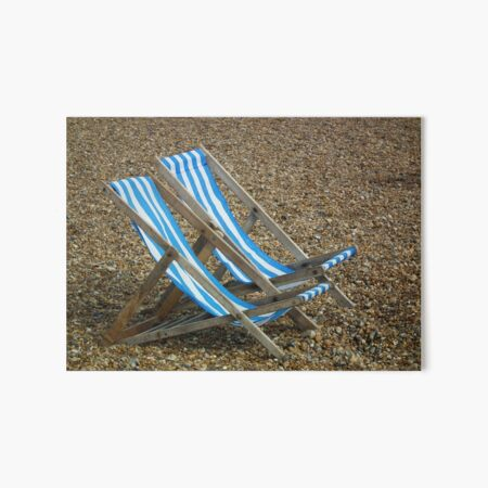 Deck Chairs Art Board Print