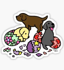 Labrador Puppies from Eggs Sticker