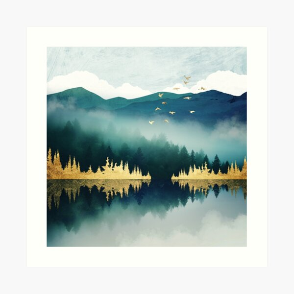 Mist Reflection Art Print