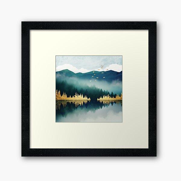 Mist Reflection Framed Art Print