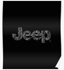 Jeep tires 3 white Poster