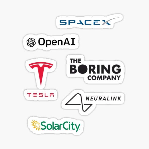 Elon Musk Companies Pack Sticker