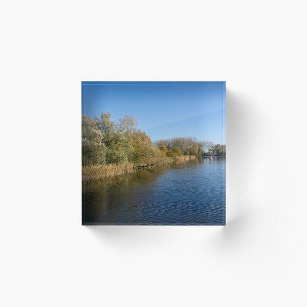 Autumn in Dordrecht Acrylic Block