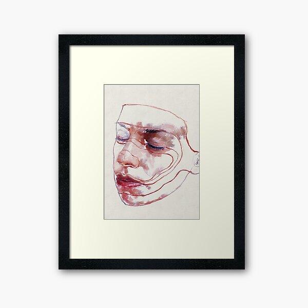 293 Signed Face Framed Art Print