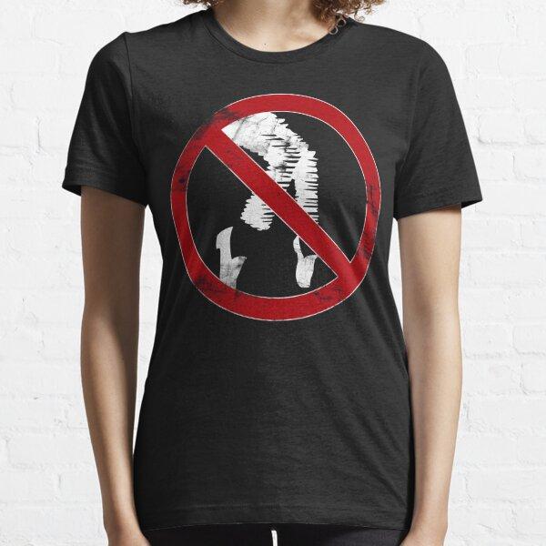 "MJJ Moonwalker ""no dancing"" sign (Michael Jackson) Essential T-Shirt"