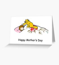 Happy Mother's Day Ginger Cat Greeting Card