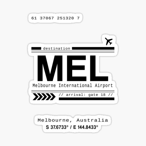 Melbourne, Australia International Airport Print Sticker