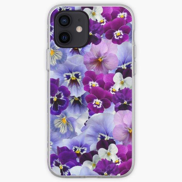 Purple & Blue Pansy iPhone Soft Case