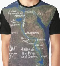 Map of Ancient Egypt Graphic T-Shirt