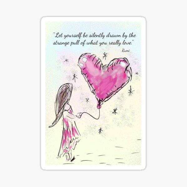 Inspirational Rumi Quote Sticker