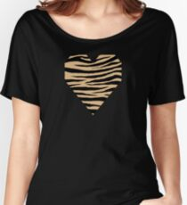 0081 Burlywood Tiger Women's Relaxed Fit T-Shirt