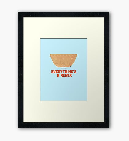 Character Building - Mixing Framed Print