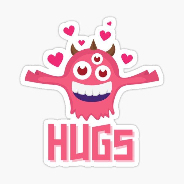 Hugs funny  Original Epic Gift Gift Idea For Birthday Mother's Father's Day For People Women Men boyfriend girlfriend friends besty Sticker