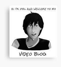 AmazingPhil - Phil's Video Blog Canvas Print