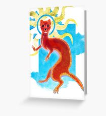 Enlightenment Weasel Greeting Card