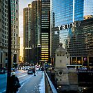 Looking West on Chicago's Wacker Drive by Sven Brogren