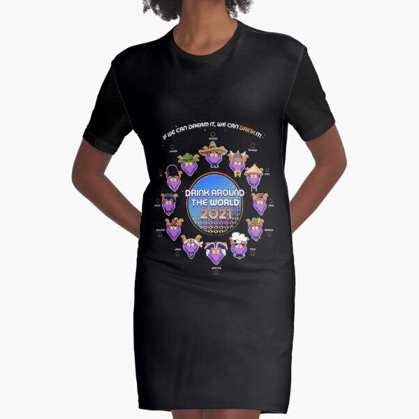 Drink Around The World 2021 Graphic T-Shirt Dress