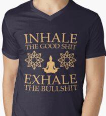 Yoga: Inhale the good shit Men's V-Neck T-Shirt