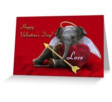 Valentine's Day Elephant Love Greeting Card
