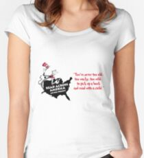 Read Across America Day design Women's Fitted Scoop T-Shirt