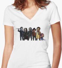 Slasher Squad Women's Fitted V-Neck T-Shirt