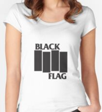 Black Flag Apparel Women's Fitted Scoop T-Shirt