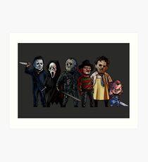 Slasher Squad Art Print