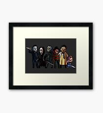 Slasher Squad Framed Print