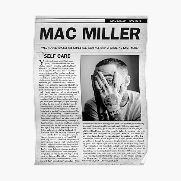 Mac Self Care Newspaper Poster
