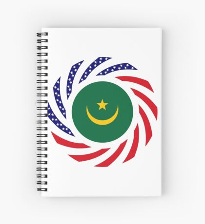Mauritanian American Multinational Patriot Flag Series Spiral Notebook