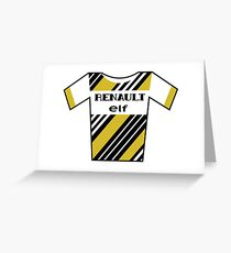 Retro Jerseys Collection - Renault Greeting Card