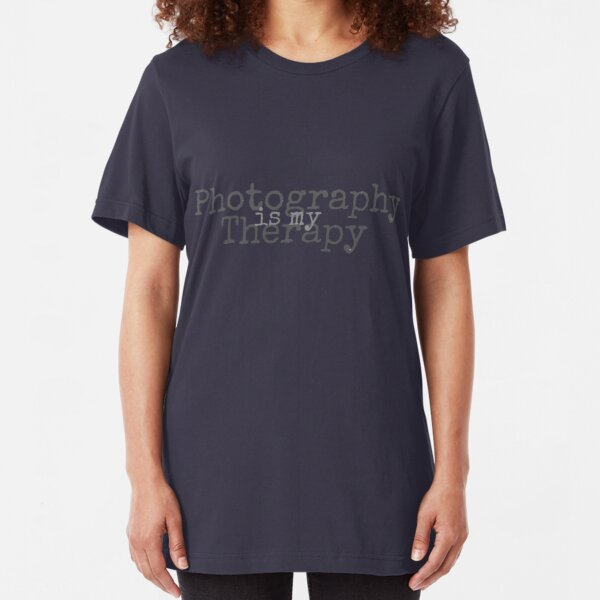Photography is my Therapy Slim Fit T-Shirt