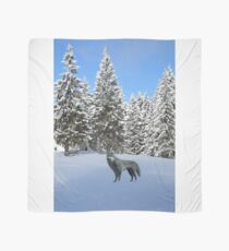 A wolf in the snow. Scarf