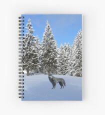 A wolf in the snow. Spiral Notebook