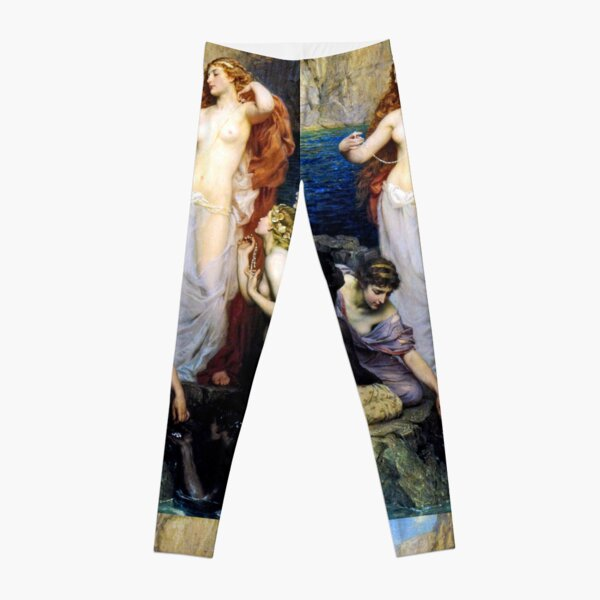 The Pearls Of Aphrodite – (Herbert James Draper)  Герберт Дрейпер - Жемчуг Афродиты Leggings