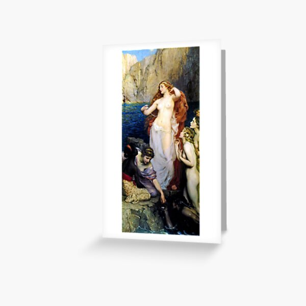 The Pearls Of Aphrodite – (Herbert James Draper)  Герберт Дрейпер - Жемчуг Афродиты Greeting Card