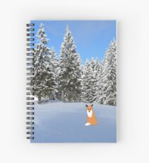 A fox in the snow. Spiral Notebook
