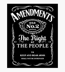 Second Amendment Whiskey Bottle Photographic Print