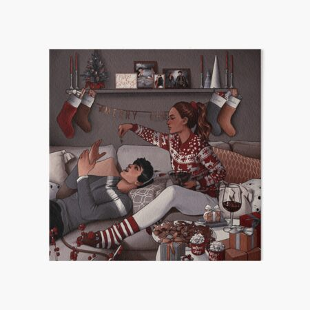 Jude and Cardan celebrating christmas Art Board Print