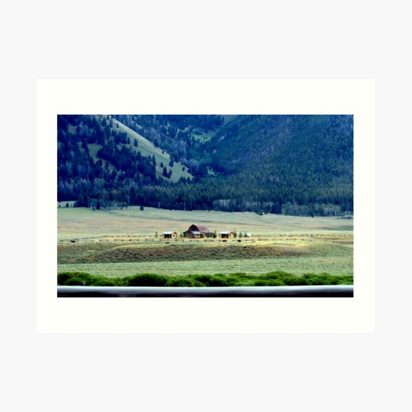 Down In The Valley..Ketchum, Idaho...drive by Art Print