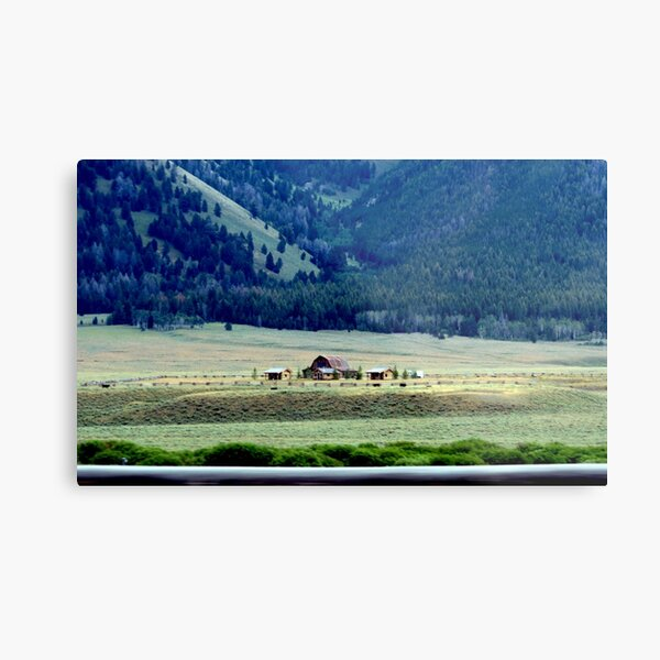 Down In The Valley..Ketchum, Idaho...drive by Metal Print